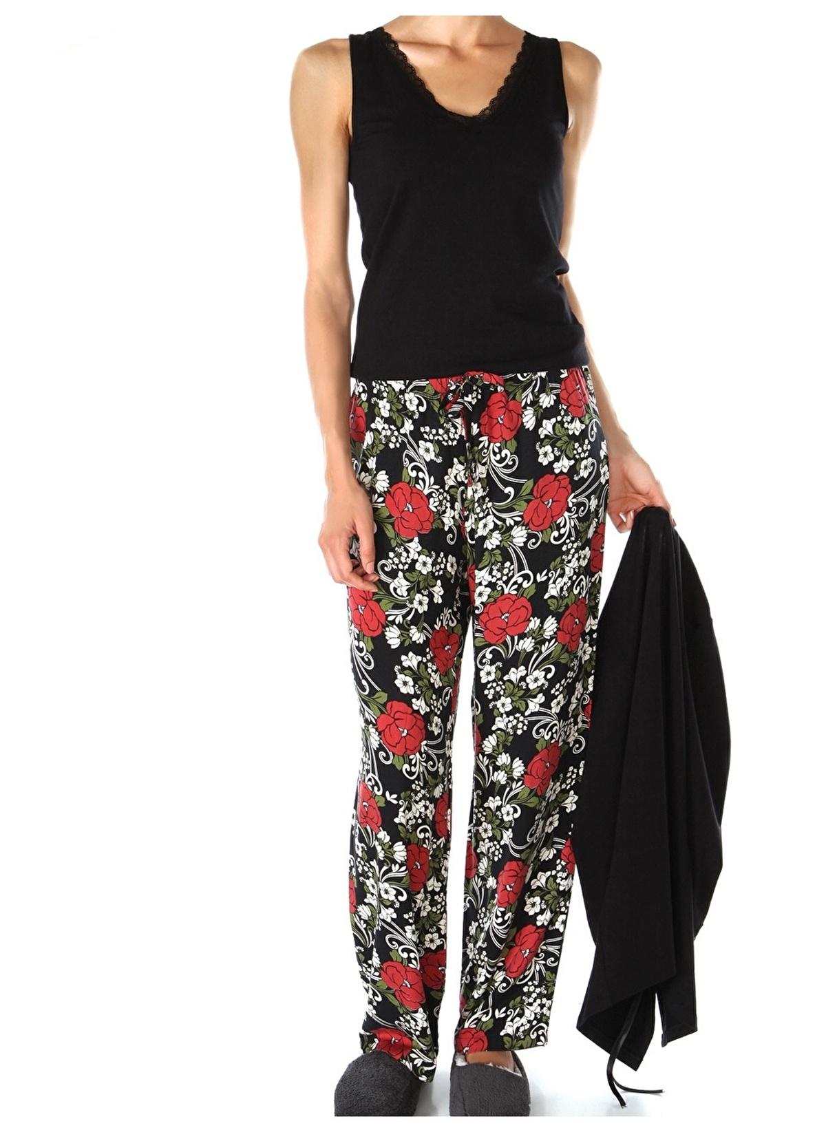 Doremi Pijama Takım 002-000221 Flower Garden 3'lü Pijama Tak – 186.99 TL